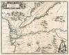Новая карта Египта. Nova Aegypti Tabula. На карте, изданной братьями Блау, изображены бассейн и дельта Нила, Каир и Красное море. Амстердам, 1650
