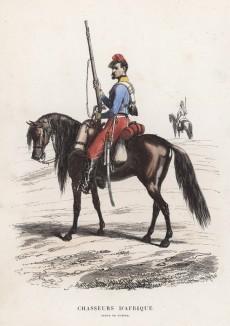 Конный егерь французского экспедиционного корпуса в Северной Африке (полевая форма)