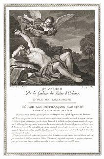 Святой Иероним кисти Гверчино. Лист из знаменитого издания Galérie du Palais Royal..., Париж, 1786