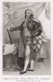 Пьер-Франсуа-Шарль Ожеро (1757-1816), маршал Франции с 1804 года. Galerie des Marechaux de France par Ch. Gavard, Париж, 1839 год.