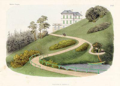 Парк в окрестностях Марселя. Habitations Champêtres..., Париж, 1855 год