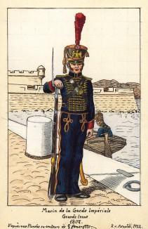 1804 г. Солдат морской пехоты императорской гвардии Наполеона в парадной форме. Коллекция Роберта фон Арнольди. Германия, 1911-28