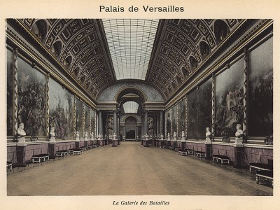 Версаль. Военный зал. Из альбома фотогравюр Versailles et Trianons. Париж, 1910-е гг.