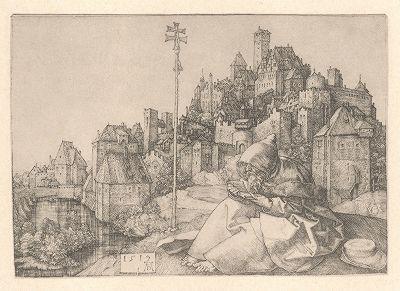Святой Антоний. Гравюра Альбрехта Дюрера, выполненная в 1519 году (Репринт 1928 года. Лейпциг)