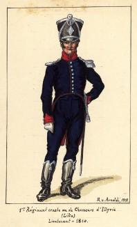 1810 г. Лейтенант 1-го хорватского полка иллирийских егерей Великой армии Наполеона. Коллекция Роберта фон Арнольди. Германия, 1911-29