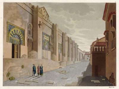 Вид на мечеть в Кордове (из работы Джулио Феррарио Il costume antico e moderno, o, storia... di tutti i popoli antichi e moderni, изданной в Милане в 1826 году (Европа. Том V))