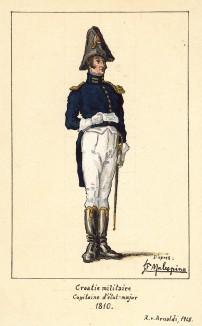 1810 г. Капитан штаба хорватской военной администрации Великой армии Наполеона, состоящий в чине бригадного генерала. Коллекция Роберта фон Арнольди. Германия, 1911-29