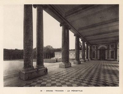 Версаль. Большой Трианон. Перистиль. Фототипия из альбома Le Chateau de Versailles et les Trianons. Париж, 1900-е гг.