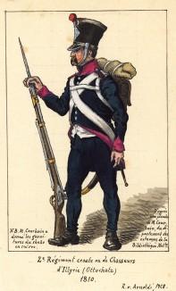 1810 г. Солдат 2-го хорватского полка иллирийских егерей Великой армии Наполеона. Коллекция Роберта фон Арнольди. Германия, 1911-29