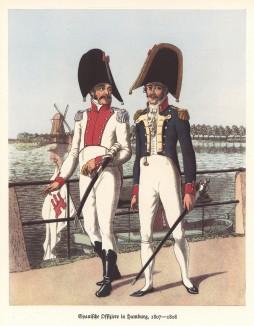 Испанские офицеры на набережной Гамбурга в 1808 году (из популярной в нацистской Германии работы Мартина Лезиуса Das Ehrenkleid des Soldaten... Берлин. 1936 год)
