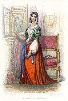 Маргарита Наваррская (1492-1549) - супруга короля Наварры Генриха II. Лист из серии Le Plutarque francais..., Париж, 1844-47 гг.