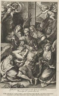 Снятие с креста. Гравюра Лукаса Килиана по оригиналу Йозефа Хейнца, 1608 год.