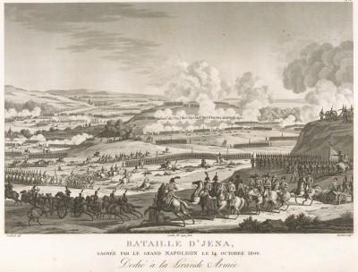 Битва при Йене 14 октября 1806 г. Tableaux historiques des campagnes d'Italie depuis l'аn IV jusqu'á la bataille de Marengo. Париж, 1807