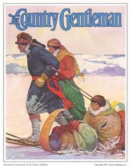 Эскимосы. Обложка журнала The Country Gentleman. 1926 год.