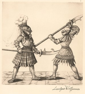 Из Freydal. Des Kaisers Maximilian I. Turniere und Mummereien (Репринт 1882 года. Вена. Лист 3)