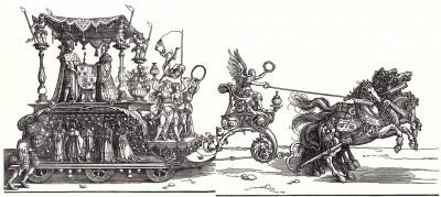 Малая Триумфальная колесница, или Бургундское бракосочетание (гравюра Альбрехта Дюрера (полное воспроизведение))