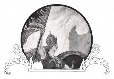 Прусская Ника - богиня победы. Илл. Франца Стассена. Die Deutschen Befreiungskriege 1806-1815. Берлин, 1901