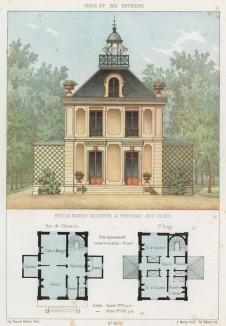 Маленький загородный дом в Фонтене-о-Роз, южном пригороде Парижа (из популярного у парижских архитекторов 1880-х Nouvelles maisons de campagne...)