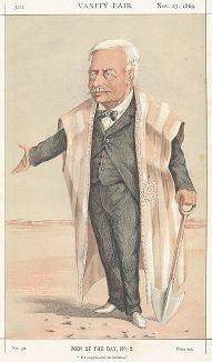 Фердинанд Мари, виконт де Лессепс (1805-1894) - французский дипломаа и руководитель строительства Суэцкого канала. Лондон, 1869 год.