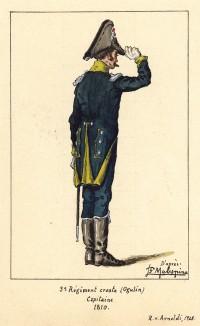1810 г. Капитан 3-го хорватского полка иллирийских егерей Великой армии Наполеона. Коллекция Роберта фон Арнольди. Германия, 1911-29
