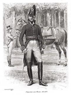 Генерал французской службы тыла в униформе образца 1804-1815 годов. Types et uniformes. L'armée françаise par Éduard Detaille. Париж, 1889