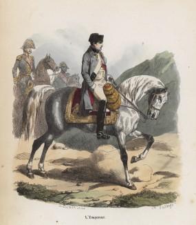 Император Наполеон I (из популярной работы Histoire de l'empereur Napoléon (фр.), изданной в Париже в 1840 году с иллюстрациями Ораса Верне и Ипполита Белланжа)