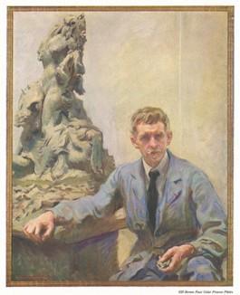 Фридерик Уильям Макмоннис (1863-1937) -- известный американский скульптор. С живописного оригинала Дж. Монтгомери Флэгга.