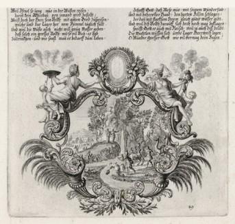 Израильтяне собирают манну небесную (из Biblisches Engel- und Kunstwerk -- шедевра германского барокко. Гравировал неподражаемый Иоганн Ульрих Краусс в Аугсбурге в 1700 году)