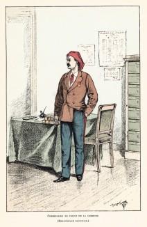 1871 год. Комиссар полиции Парижа времён Коммуны (18.03-28.05 ). Ville de Paris. Histoire des gardiens de la paix. Париж, 1896