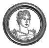 """Мария-Луиза Австрийская (1791--1847) — дочь императора Священной Римской империи Франца II, вторая жена Наполеона I и мать Наполеона II. С 1815 года — герцогиня Пармы, Пьяченцы и Гуасталлы. Илл. к пьесе С.Гитри """"Наполеон"""". Париж, 1955"""