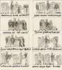 Миниатюры IX века из молитвослова, хранящегося в римской библиотеке Минервы (из знаменитой работы Джулио Феррарио Il costume antico e moderno, o, storia... di tutti i popoli antichi e moderni, изданной в Милане в 1822 году (Европа. Том III))