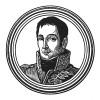 """Андре Массена (1758—1817) — сын торговца мылом, герой революционных войн и итальянской кампании, «любимое дитя победы», маршал Франции (1804), герцог де Риволи (1807) и князь Эслингенский (1809). Илл. к пьесе С.Гитри """"Наполеон"""", Париж, 1955"""