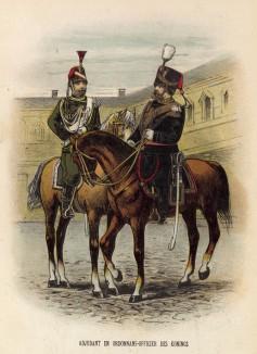 Адъютант и офицер по особым поручениям короля Голландии Вильгельма III (иллюстрация к работе Onze krijgsmacht met bijshriften... (голл.), изданной в Гааге в 1886 году)