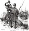 Французские егеря в 1839 году (из Types et uniformes. L'armée françáise par Éduard Detaille. Париж. 1889 год)