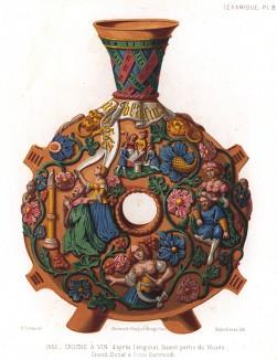 Копия кувшина для вина, некогда хранившегося в музее ландграфства Гессен (из Les arts somptuaires... Париж. 1858 год)