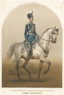 Его императорское высочество государь-наследник цесаревич и великий князь Николай Александрович (1843-65). Русский художественный листок, №1, 1860