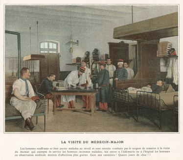 Лазарет французской пехоты. L'Album militaire. Livraison №1. Infanterie. Serviсe interieur. Париж, 1890
