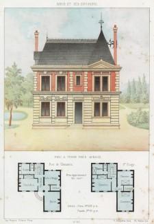 Загородный дом в городке Со - южном пригороде Парижа (из популярного у парижских архитекторов 1880-х Nouvelles maisons de campagne...)