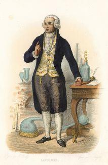 Антуан Лоран Лавуазье (1743-1794) - французский ученый, один из основателей современной химии. Лист из серии Le Plutarque francais..., Париж, 1844-47 гг.