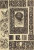 """Элементы титульных листов, буквицы (лист 75 альбома """"Сокровищница орнаментов..."""", изданного в Штутгарте в 1889 году)"""