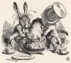 Оглянувшись в последний раз, она увидела, что они засовывают Соню в чайник (иллюстрация Джона Тенниела к книге Льюиса Кэрролла «Алиса в Стране Чудес», выпущенной в Лондоне в 1870 году)