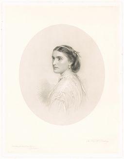 Портрет Мэри Джорджины Фрэнсис Хардиндж, придворной дамы королевы Виктории работы Уильяма Дикинсона.
