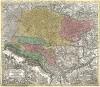 Венгрия. Novissima et accuratissima Hungariae cum circumjacentibus regnis et principatibus in mappa geographica designatio... Картограф Тобиас Конрад Лоттер. Аугсбург, 1728
