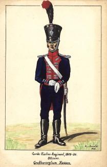 1809-30 гг. Офицер фузилерного полка лейб-гвардии великого герцогства Гессен. Коллекция Роберта фон Арнольди. Германия, 1911-29
