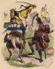 """Смертельный удар прусского гусара (иллюстрация Адольфа Менцеля к известной работе Эдуарда Ланге """"Солдаты Фридриха Великого"""", изданной в Лейпциге в 1853 году)"""