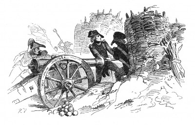 17 декабря 1793 г. Штурм роялистского Тулона, сопровождаемый шквальным огнем артиллерии, которой командует майор Буонапарте. Histoire de l'empereur Napoléon. Париж, 1840