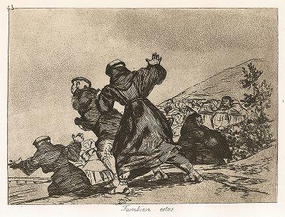 """И это тоже. Лист 43 из известной серии офортов знаменитого художника и гравёра Франсиско Гойи """"Бедствия войны"""" (Los Desastres de la Guerra). Представленные листы напечатаны в Мадриде с оригинальных досок около 1900 года."""