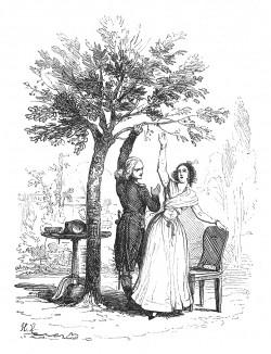В Валансе (1785-86) юный лейтенант Буонапарте встречает первую любовь, Каролин де Коломбье. Девушка старше почти вдвое, их брак невозможен. Через 20 лет, узнав, что Каролин де Бресье с мужем живет в Лионе, император Наполеон всячески помогает ее семье.