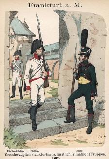 Униформа пехотинцев королевства Вюртемберг образца 1807 г. Uniformenkunde Рихарда Кнотеля, часть 2, л.39. Ратенау (Германия), 1891