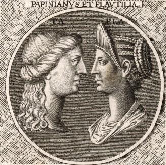 Римский юрист Эмилий Папиниан и жена императора Каракаллы Фульвия Плавтилла.